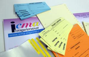 Impression billet carnet à souche ICMA imprimeur